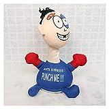 Maceteros Juguetes de estrés al relieve cara muñeca punzón me dibujean dibujos animados eléctricos infantiles juguetes de peluche para niños Vent de juguete Muñeca de juguete Adulto Discompresión de j