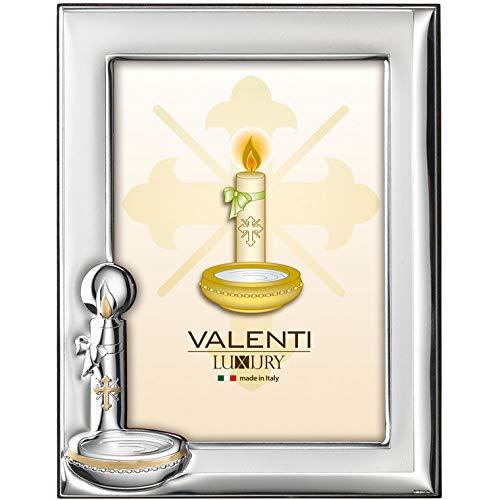 Valenti&Co Bilderrahmen aus Silber, 13 x 18 cm, ideal als Geschenkidee für Feiern, als Taufe eines Kindes.