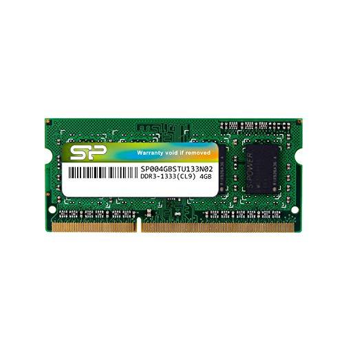 シリコンパワー ノートPC用メモリ 204Pin SO-DIMM DDR3-1333 PC3-10600 4GB SP004GBSTU133N02