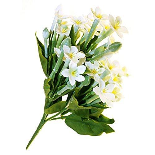 Ramo de Flores Artificiales de Seda de Marjon, Color Blanco