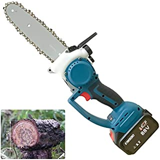 Small Cordless Chainsaw, Household Handheld Chainsaw Cordless Lithium Battery Chain Saw Logging Saw Mini One-Handed Outdoo...