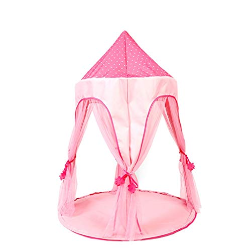 CSQ Yurt Play Tent, Baby's Toy House Tipi for Family Games Toddlers Grow Playhouse - Girl Princess Dream Teepee Tents Children's play house (Color : Pink, Size : 107 * 107 * 145CM)