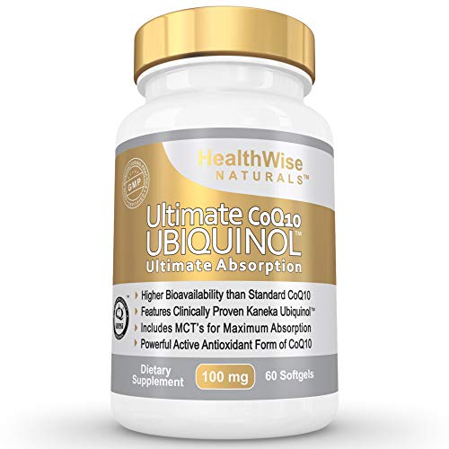 Ultimate CoQ10 UBIQUINOL 100mg - Over 4X More Effective: Maximum Absorption & Potency - Non-GMO/Soy Free - Kaneka Ubiquinol - 60 Liquid Softgels