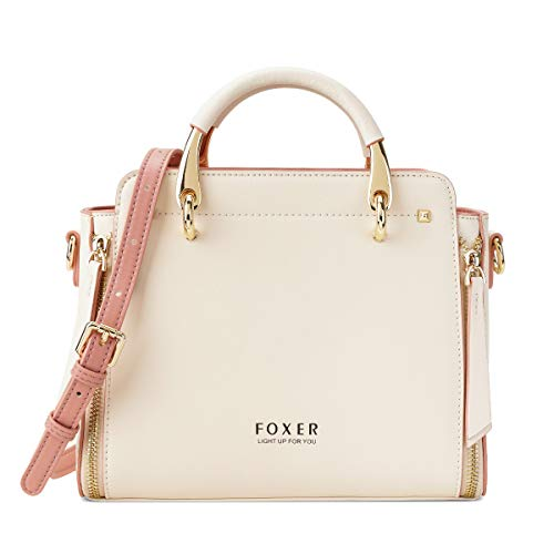 Leather Handbags for Women, Genuine Leather Ladies Top-handle Bags with Adjustable Shoulder Strap Women's Crossbody Bag Womens Real Cowhide Satchels Leather Messenger Tote Bags(White)