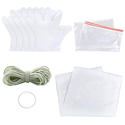 Sntieecr 68 Pieces DIY Tie Dye Kit, T-Shirt Fabrics Tie-dye Kits for Kids Adult Party Group, Including Rubber Bands, Plastic Gloves, Sealed Bags and Plastic Tablecloth