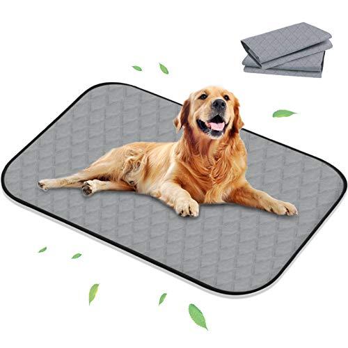 newoer Washable Ultra Large Puppy Pads, 2 Pcs Reusable Pee Pads Dog...