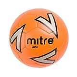 Mitre Impel Ballon de Football Mixte Adulte, Orange/Argent/Noir, Taille 5