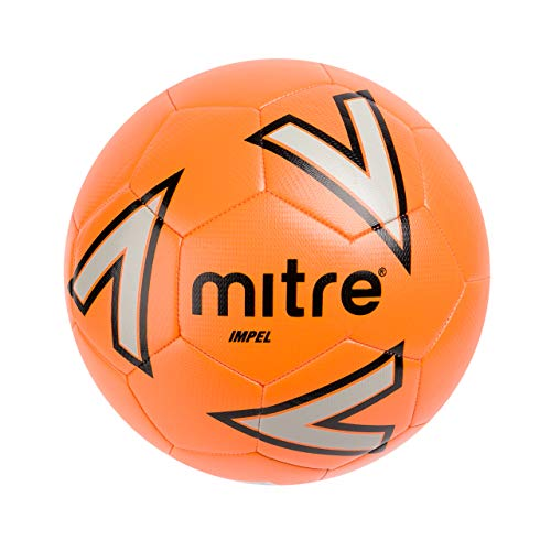 Mitre Impel Trainingsfußball, Orange/Silver/Black, 5