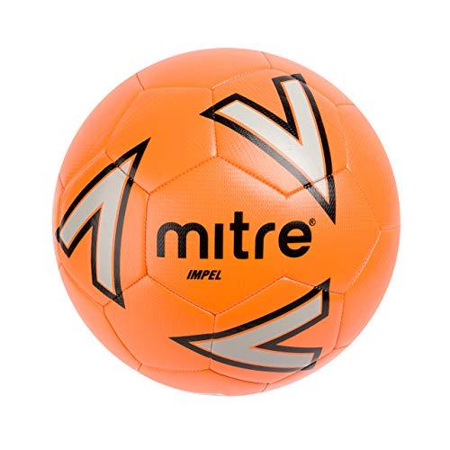 Mitre Impel Training Football - Orange/Silver/Black, 4