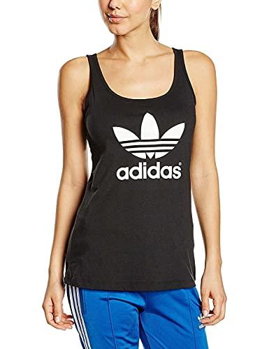 adidas Trefoil Tank Camiseta, Mujer, Negro, 32
