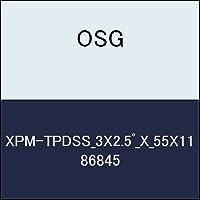 OSG テーパエンドミル XPM-TPDSS_3X2.5゚_X_55X11 商品番号 86845
