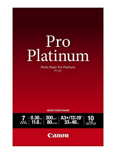 Canon PT 101 Pro Platinum Fotopapier DIN A3 10 Blatt 300 gqm fur Tintenstrahldrucker