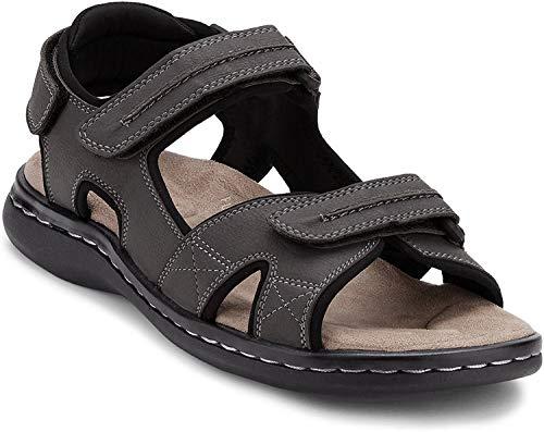DOCKERS Men's Newpage Sandal, Grey, 10 M US