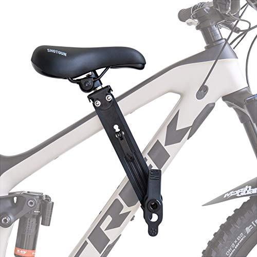 SHOTGUN Asiento infantil para bicicletas de montaña | Asientos delanteros para niños de 2 a 5 años (hasta 48 lbs.) | Compatible con todas las MBT para adultos | Fácil de instalar
