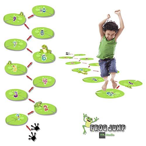 Number Frog Hopscotch