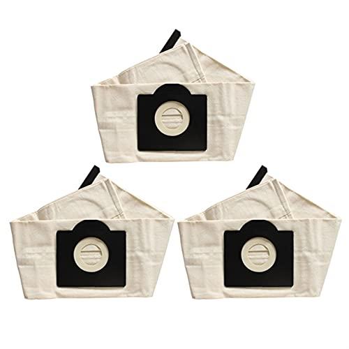 NIDUNO 3 unids Lavables karcher wd3 Bolsas de Polvo Bolsas de aspiradora (Color : Beigewhite)