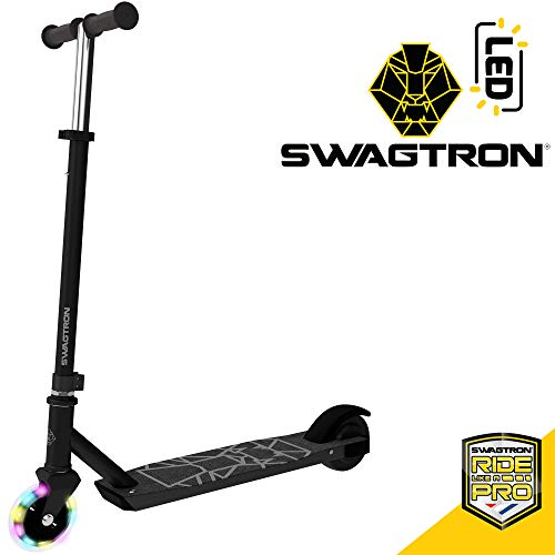 Swagtron Electric Kick Scooter Metro SK3 w/LED Wheels, up to 7.5 mph