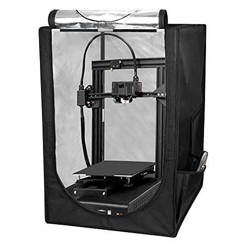 Kacsoo Copertura protettiva per stampante 3D, 3D Contenitore per Stampante temperatura costante/insonorizzata/antipolvere/Ritardante di fiamma per Ender 3 / Ender 3 Pro/Ender 5 48x60x72cm
