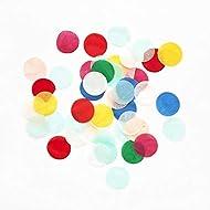 Meri Meri Bright Party Confetti - Pack of 25mm Round Confetti in 7 Colors - Luxury Tissue Confetti