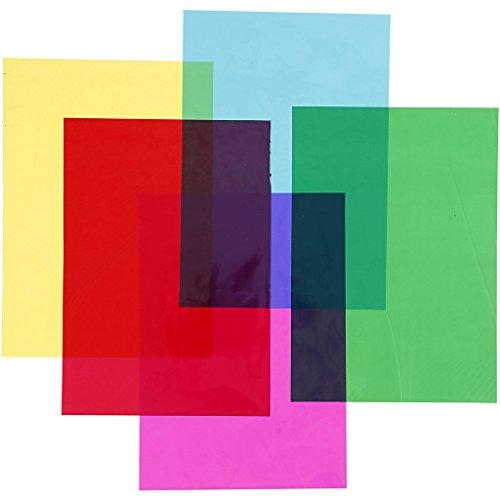 Cellophan A4 21x30cm 25 Micro cm sortiert Farben, 100 Blatt