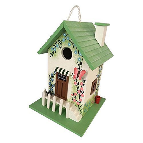 GARDEN BAZAAR HB-6002 Butterfly Cottage Bird House - Multi-Colour