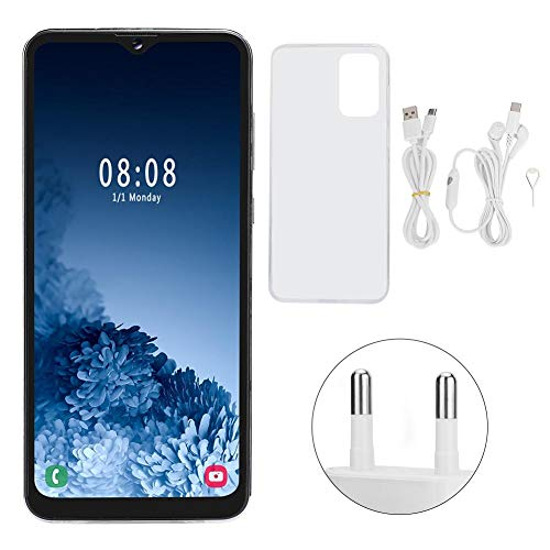 Leftwei MIQOO S30U+ White Metal 6.7 Inch D-rop Screen Face Recognition Dual Cards Dual Standby Smart Mobile P-hone 4+64G 100‑240V(European regulations)