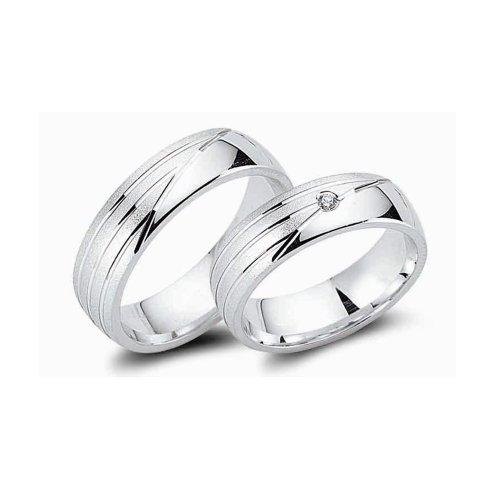 Cera 925 Silber Eheringe 1Paar, CRG27