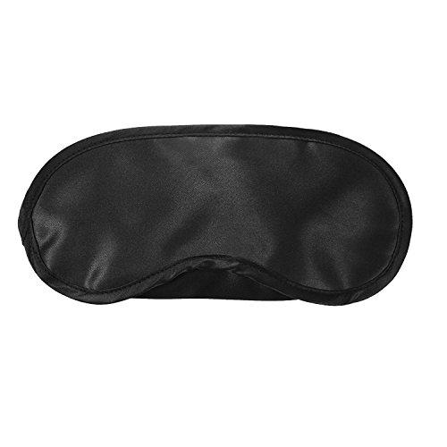 Máscara de Ojos / Máscara para Dormir, Máscaras del Sueño para los Hombres y las Mujeres, Suave Liviano y Confortable para Dormir, Viajar, Siesta, Trabajo por Turnos, Color Negro, 1 Pack