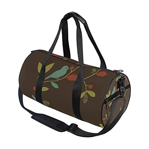 DEZIRO Chic Bird Trail Design Sport Duffle Bag Drum Sports Bag