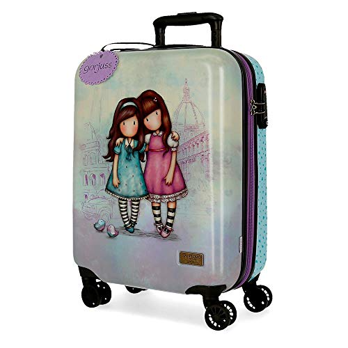 Santoro Gorjuss Friends Walk Together Trolley cabina Viola 37x55x20 cms Rigida ABS Chiusura TSA 33L 2,6Kgs 4 doppie ruote Bagaglio a mano