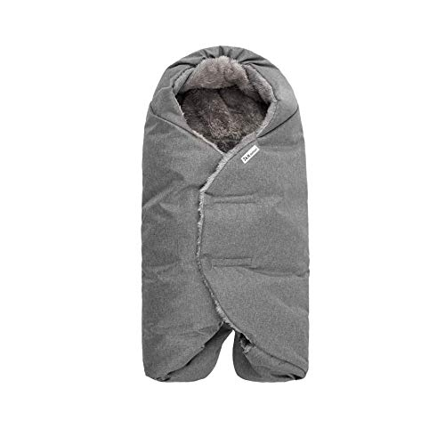 7AM Enfant Baby CAR SEAT - Nido Quilted Baby Wrap with Universal Soft Swaddle Wrap for Car Seat, Carrier, Stroller, Pram, Buggy (Grey Heather, Small)