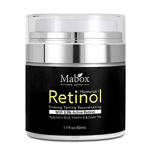 Lebeaut Mabox 50ml Retinol 2.5% Crema Facial Hidratante Ácido Hialurónico Antienvejecimiento Eliminar arrugas Vitamina E Colágeno Crema Blanqueadora Suave
