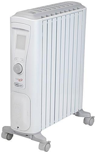 デロンギ(DeLonghi) ベルカルド オイルヒーター ピュアホワイト+シルクグレー 10~13畳用 RHJ75V0915-GY