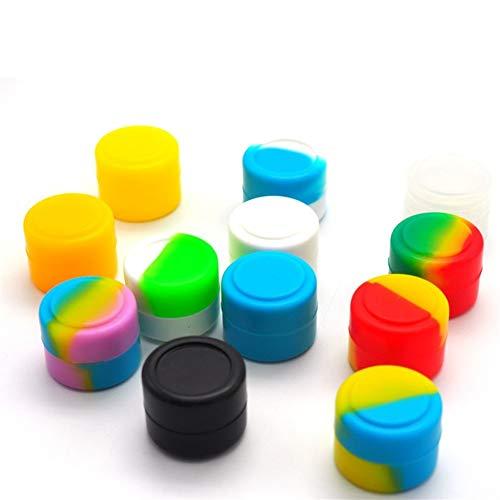 XTKID 2 ml Camouflage-Silikon-Container einfach zu halten Carry Runde Silikon-Jar for Öl-Wachs Dab Zigarette Creme (Farbe : Dark Khaki)