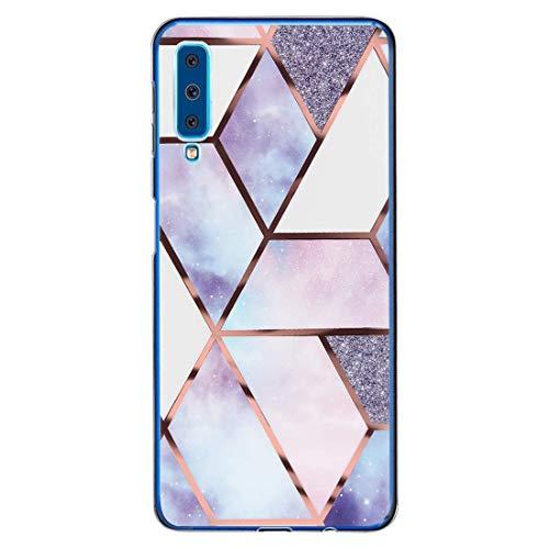 kkkie Case kompatibel Galaxy A7 2018, Ultra Dünn Transparent Weich Silikon TPU Hülle Stoßfest Handyhülle Protective Schutzhülle kompatibel Galaxy A7 2018,Transparent 9,Galaxy A7 2018