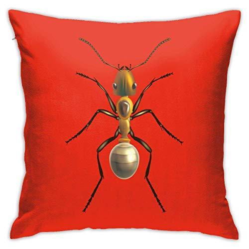 Hangdachang Throw Pillow Case 45cm x 45cm Ant Pillowcase,Square Throw Covers,Decorative Cushion for Sofa Couch Car