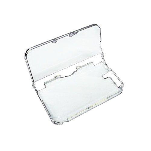 OSTENT Capa protetora transparente de cristal rígido compatível com Nintendo 3DS XL/3DS LL cor branca transparente
