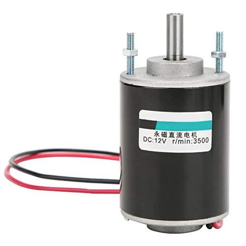 12/24V 30W Cepillo magnético permanente de eje hueco Motor DC Velocidad generador de Motor eléctrico ajustable(12V)