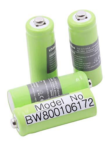 vhbw 4X 2/3 AAA Akku passend für Hagenuk Classico iDect X1, X1i, X11 Telefon & Solarleuchten, Solarlampen, Gartenleuchten (NiMH, 400mAh, 1.2V)