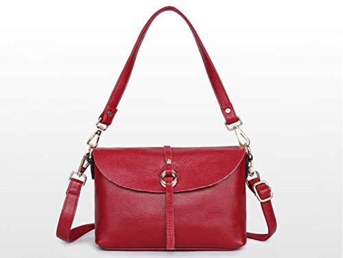 Leather Fashion handtassen, een schouder draagbare Messenger Chain Leren Riem Bag, hoge kwaliteit lederen tas,Red