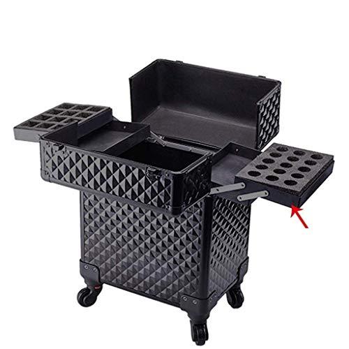 Almacenamiento de equipos para el hogar con maleta de maquillaje Rueda universal Carro de maquillaje multicapa de gran capacidad Maleta con compartimiento Carro (tamaño: 34 * 24 * 52 cm) Carro de c