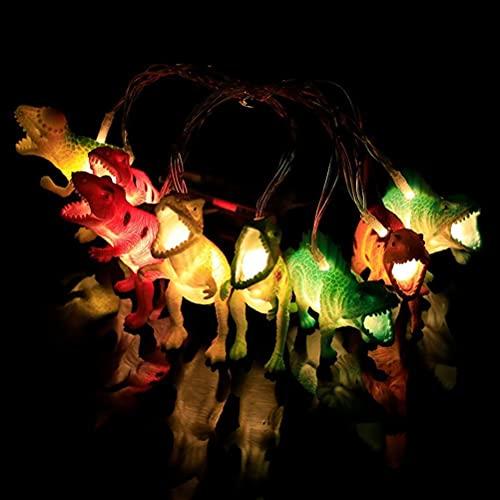 Luces de cadena de dinosaurios, 10 LED Luces de hadas de animales Luces fantásticas de hadas,decoración de la habitación de los niños para la habitación de los niños Luces de cadena de interior