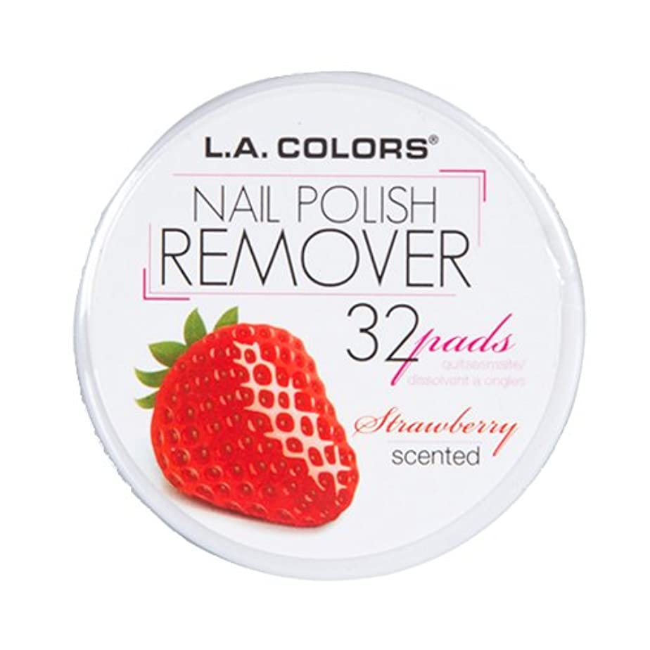直接クリーム消費者(3 Pack) L.A. COLORS Nail Polish Remover Pads - Strawberry (並行輸入品)