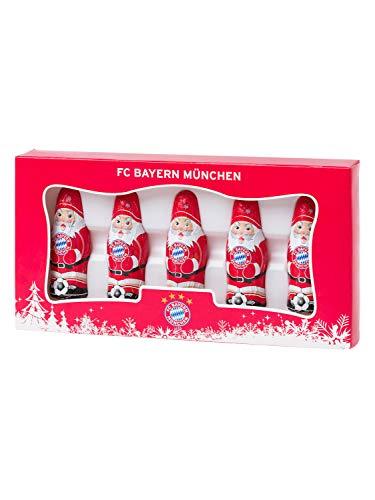 Unbekannt FC Bayern München Mini Schoko-Weihnachtsmann 5er Set