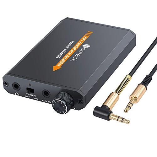 Neoteck Amplificador de Auriculares Portátil 3.5mm Audio Recargable HiFi con Batería de Litio y Cáscara de Alumnio Ideal para MP3 MP4 Phones iPods Ordenadors Laptops