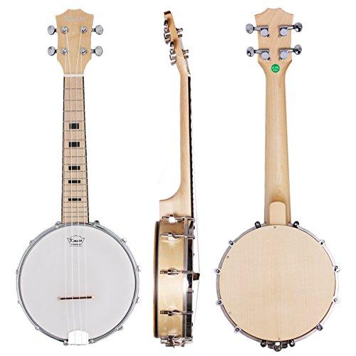 Kmise Banjo-Ukulele mit 4Saiten für Konzerte, 58,4cm, aus Sapeli-Holz Concert 23 inch MI1904