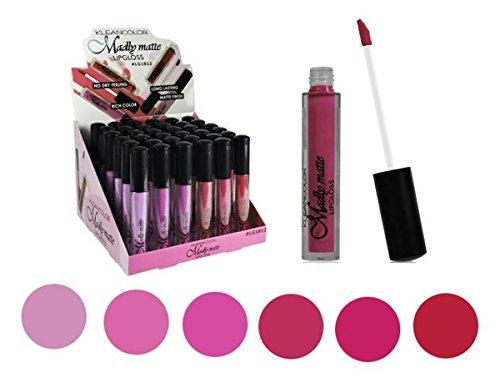 Set of 6 Colors Madly MATTE Lipgloss Bold & Vivid Color Matte Lipgloss Set #2