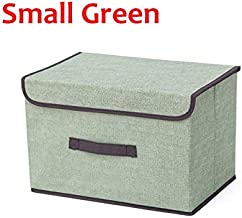 HXSD Storage Boxes with Lids No Smell Polyester Fabric Clear Storage Baskets Containers Bins with Double Cover Organizer (...