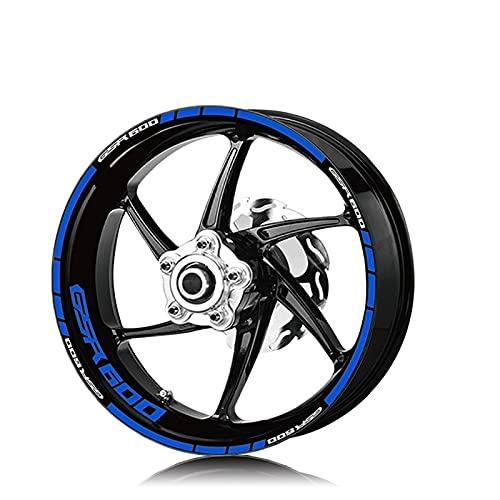 PPLAU Pegatinas de Ruedas Neumático de la Motocicleta Logotipo de la Rueda Impermeable Etiquetas engomadas de Las calcomanías de Moto de la Raya Reflectante para Suzuki GSR600 GSR 600