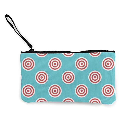 Targets Seamless Pattern Canvas Wallet Exquisite Coin Purses Small Canvas Coin Purse is Used to Hold Coin Change, ID and Other